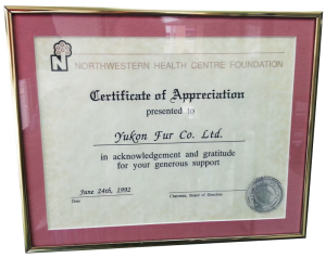 Yukon Fur supports Northwestern Health Centre Foundation