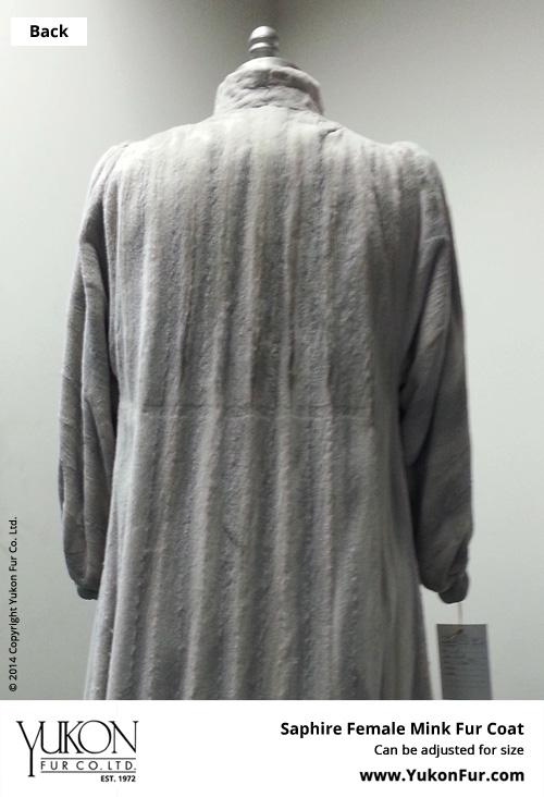 Saphire Female Mink Fur Coat