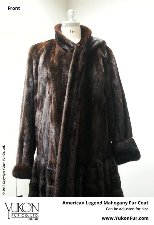 American Legend Mahogany Fur Coat